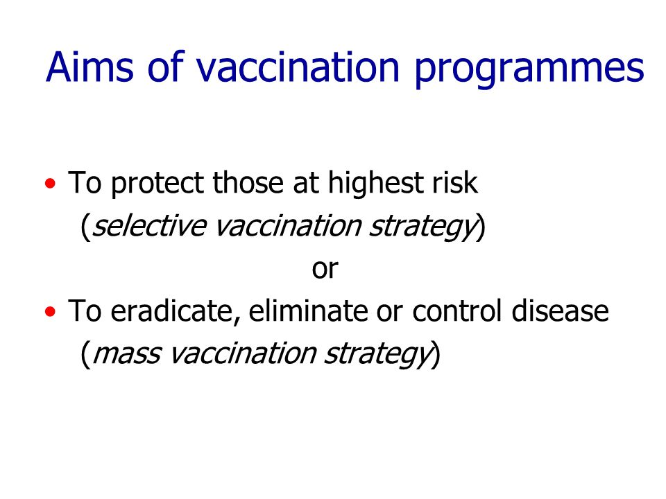 Selective vaccination strategy