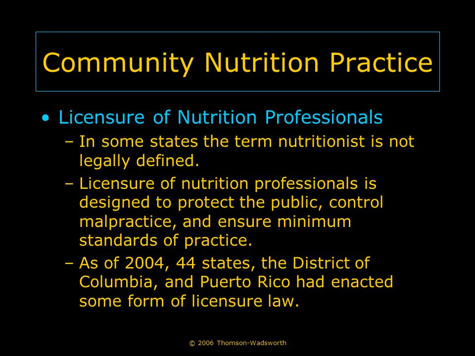 Community Nutrition Practice