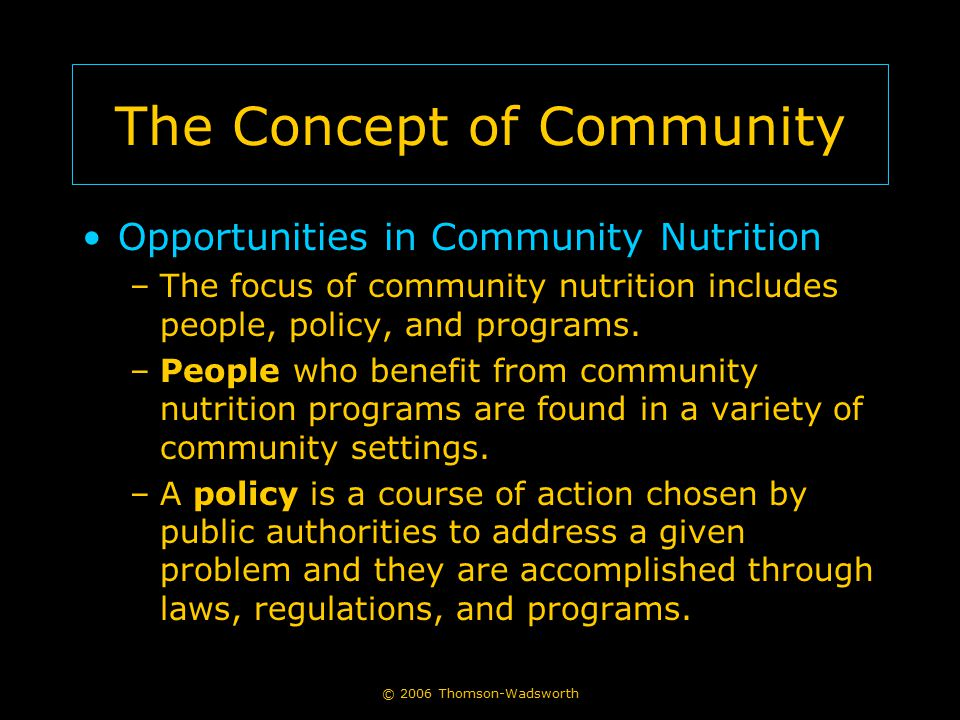 The Concept of Community