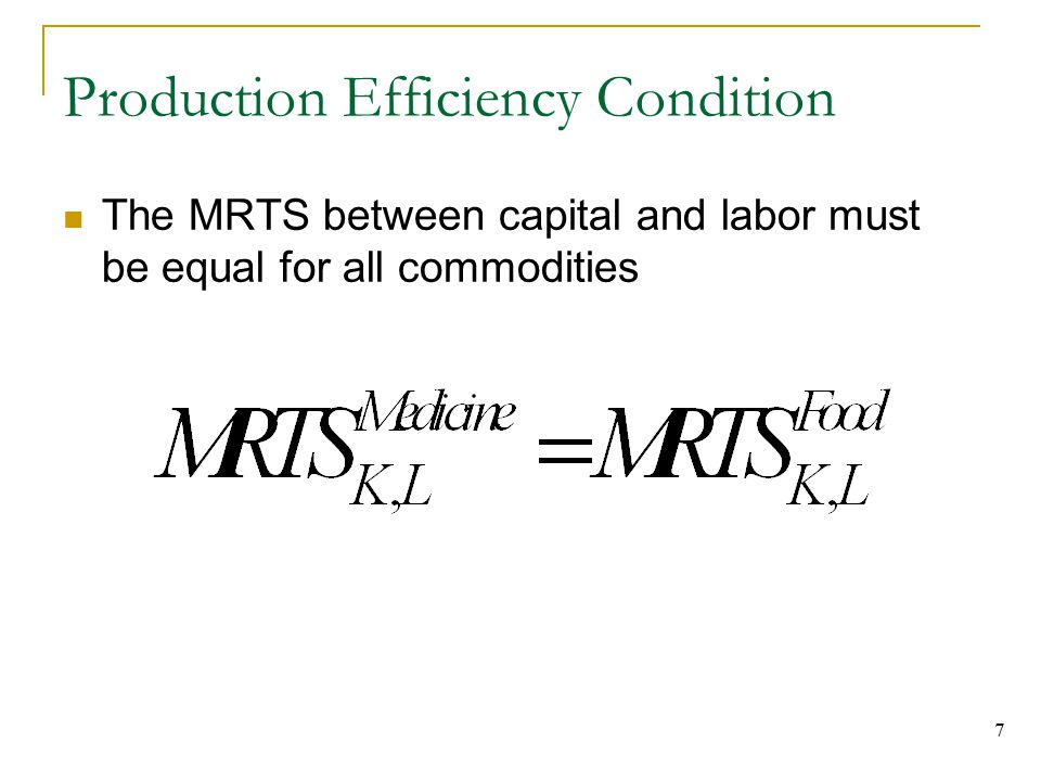 Production Efficiency Condition