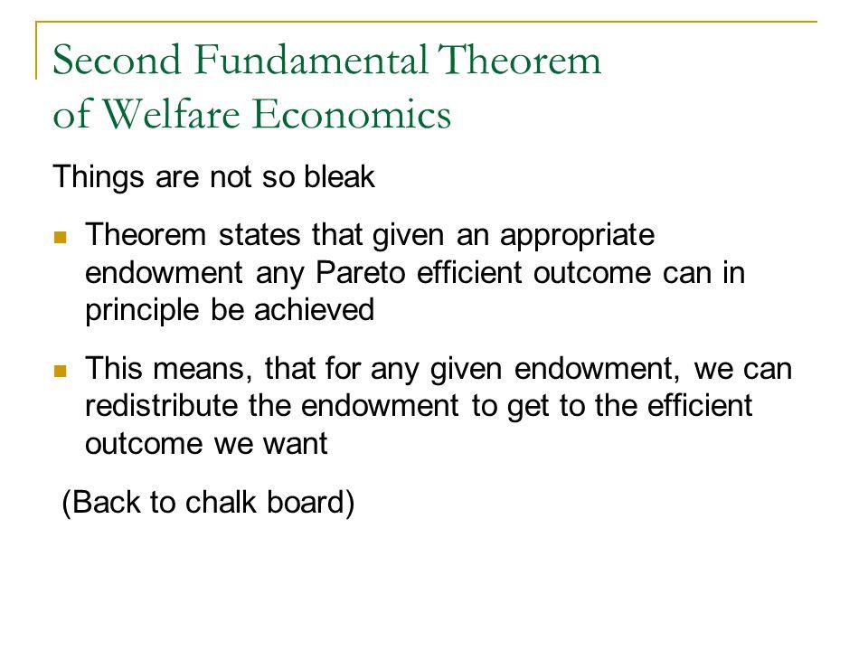 Second Fundamental Theorem of Welfare Economics