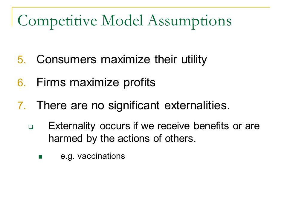 Competitive Model Assumptions