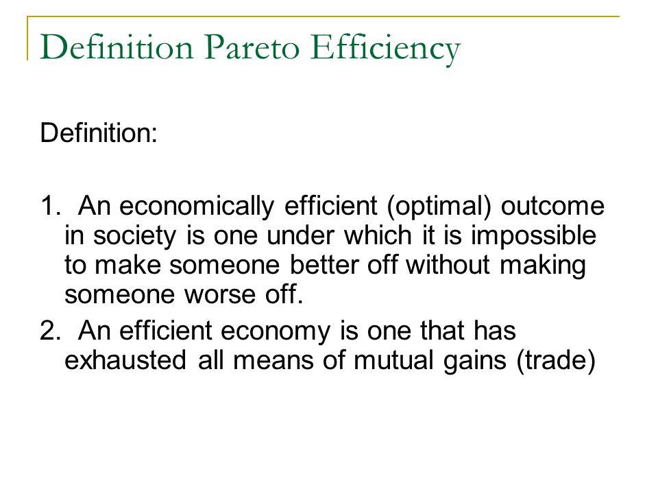 Definition Pareto Efficiency