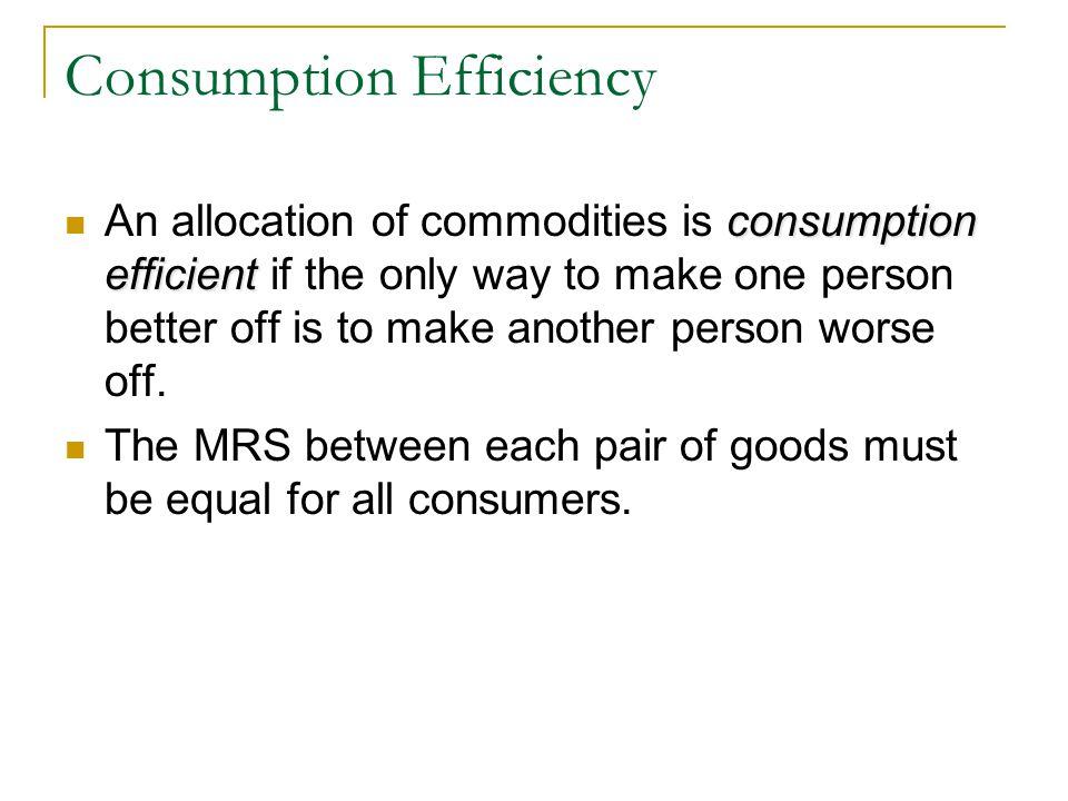 Consumption Efficiency