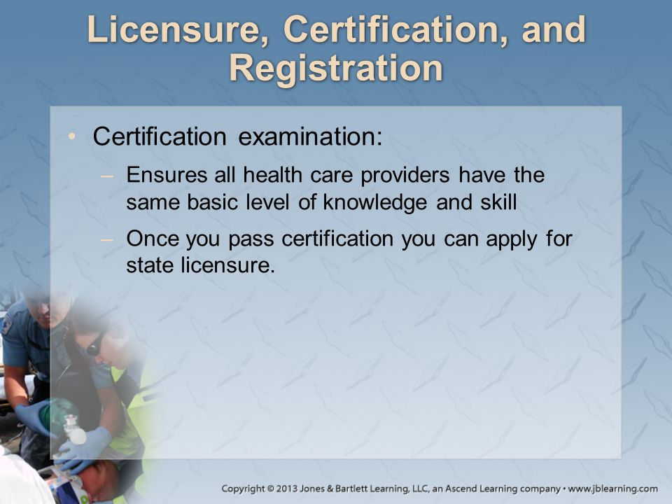 Licensure, Certification, and Registration