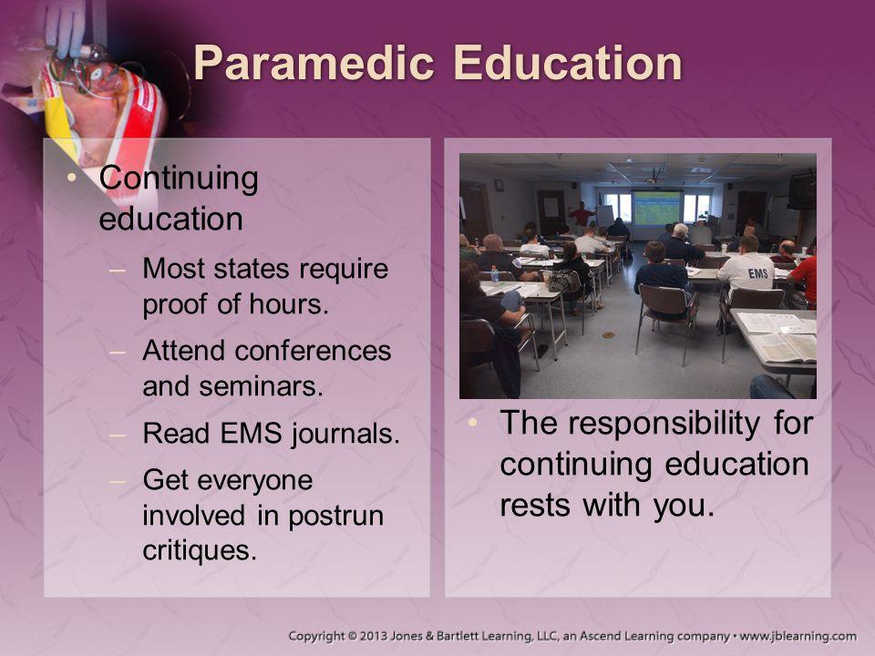Paramedic Education Continuing education