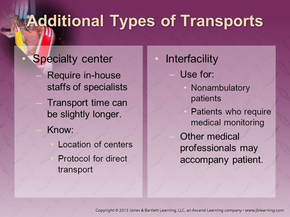 Additional Types of Transports