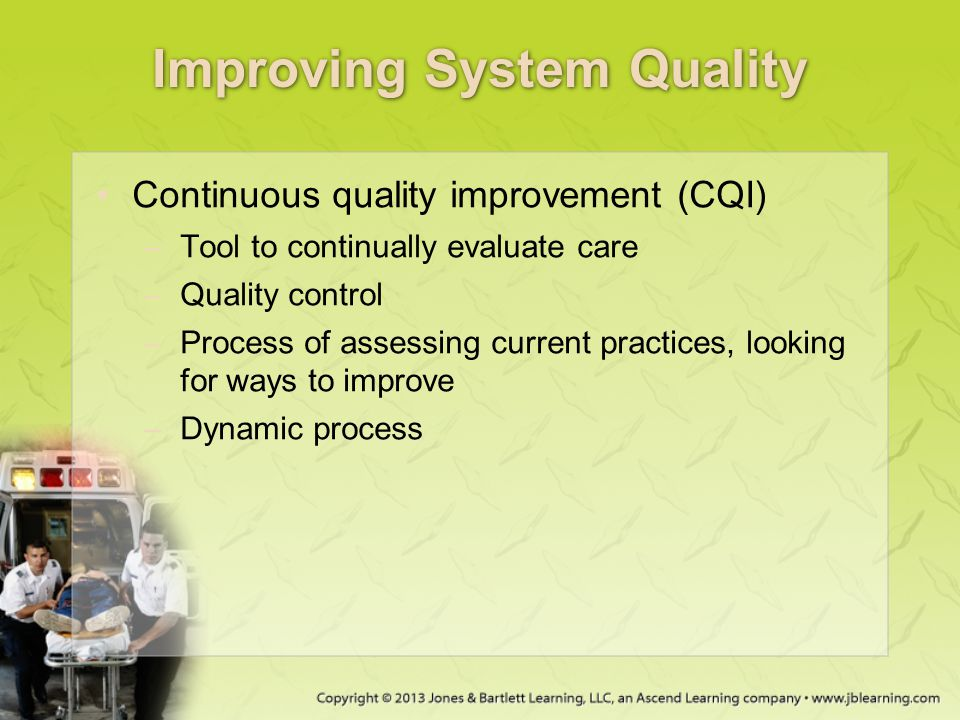 Improving System Quality