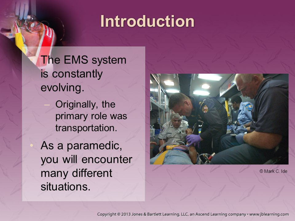 Introduction The EMS system is constantly evolving.