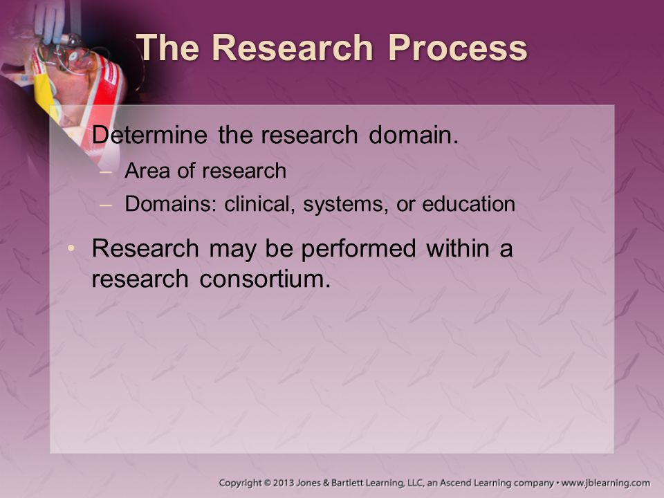 The Research Process Determine the research domain.