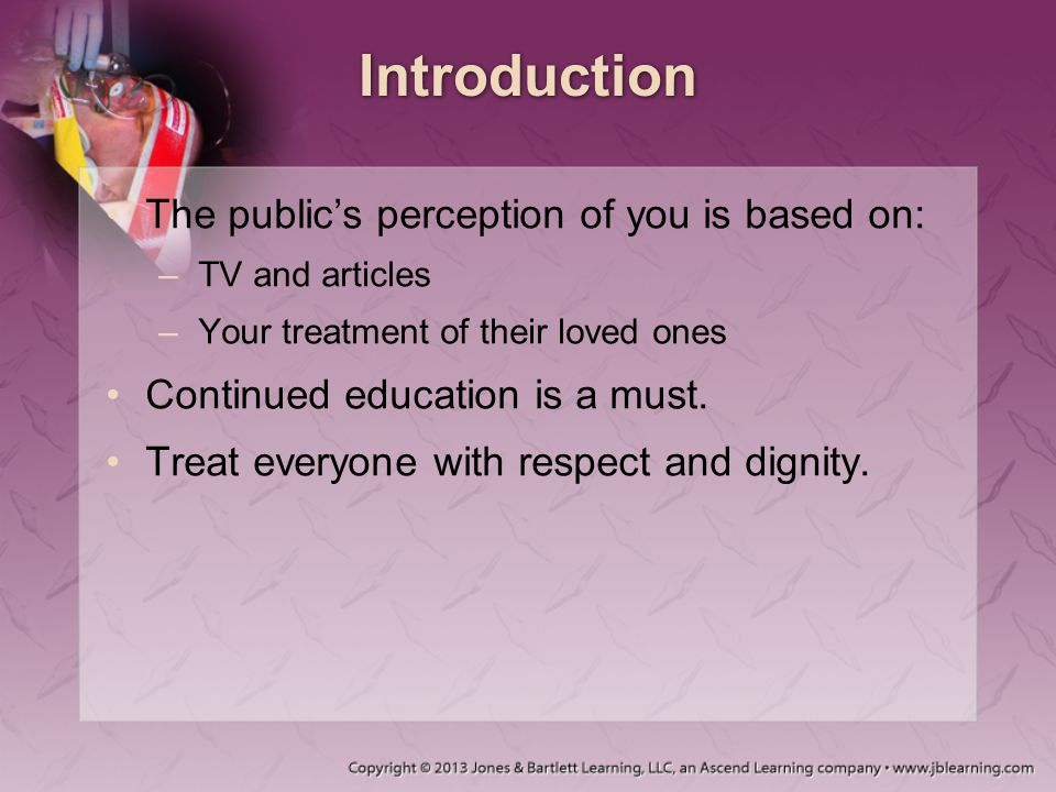 Introduction The public's perception of you is based on: