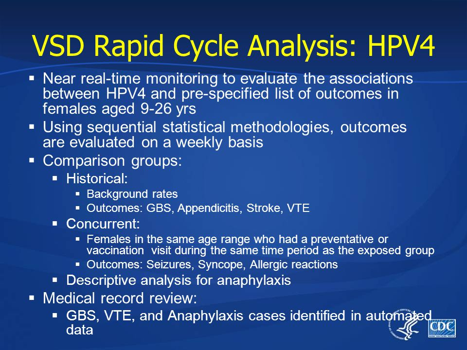 VSD Rapid Cycle Analysis: HPV4