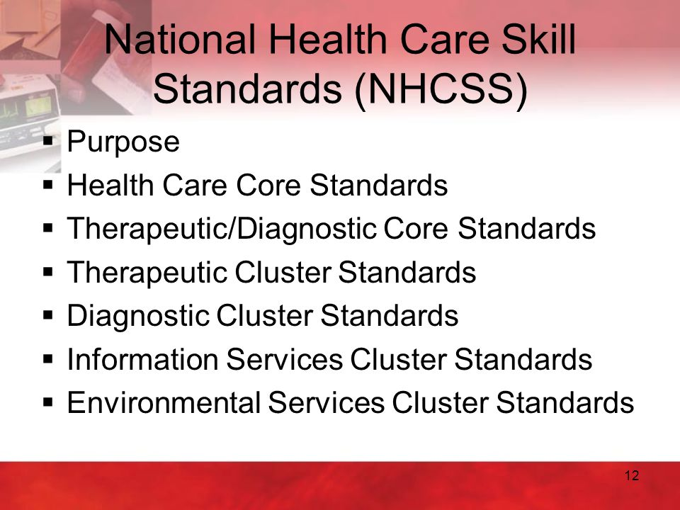 National Health Care Skill Standards (NHCSS)