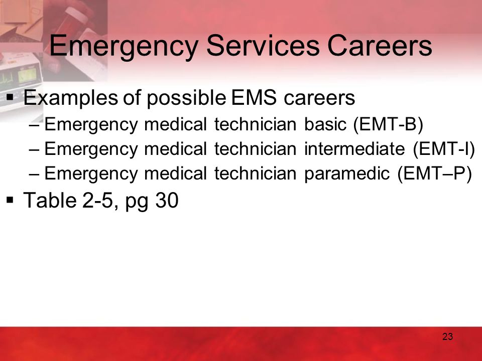 Emergency Services Careers