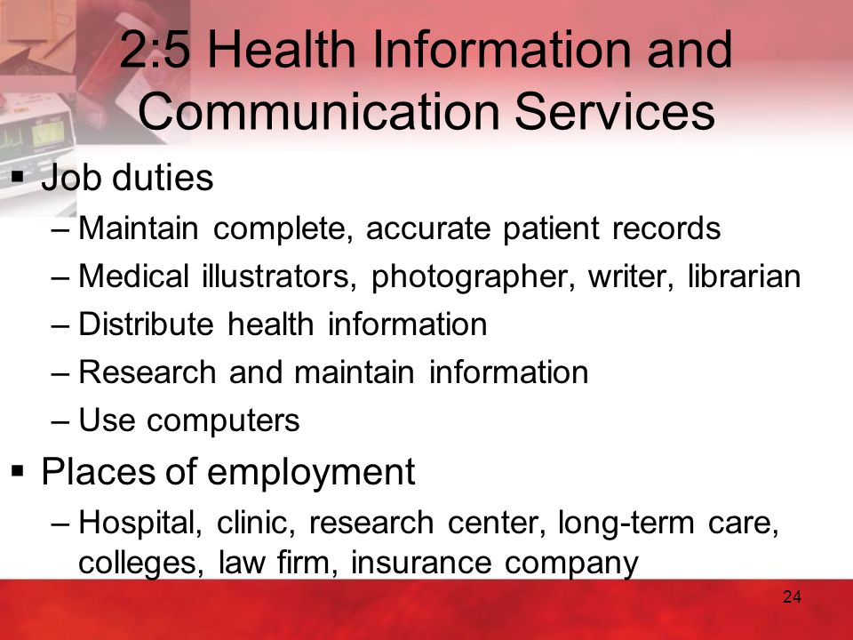 2:5 Health Information and Communication Services