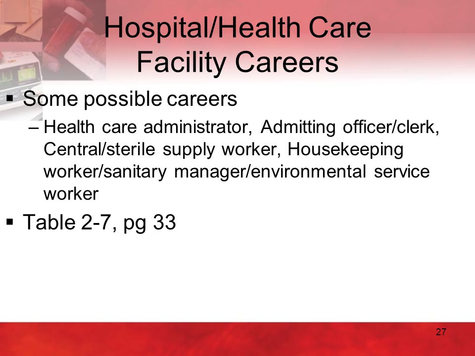 Hospital/Health Care Facility Careers