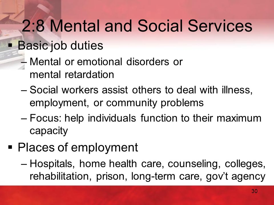 2:8 Mental and Social Services