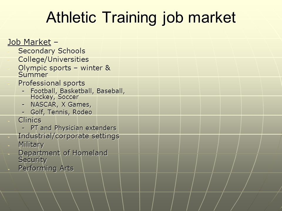 Athletic Training job market
