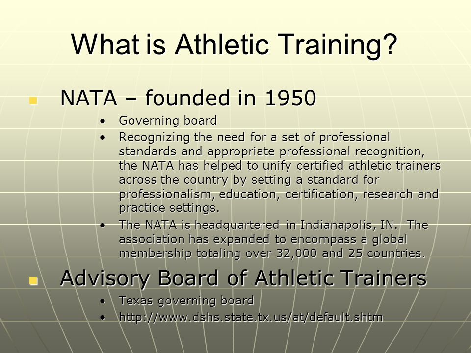 What is Athletic Training
