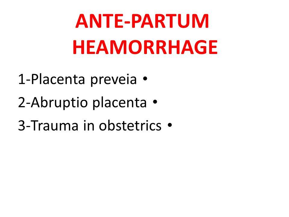 ANTE-PARTUM HEAMORRHAGE