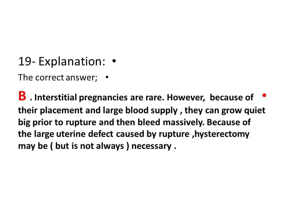 19- Explanation: The correct answer;