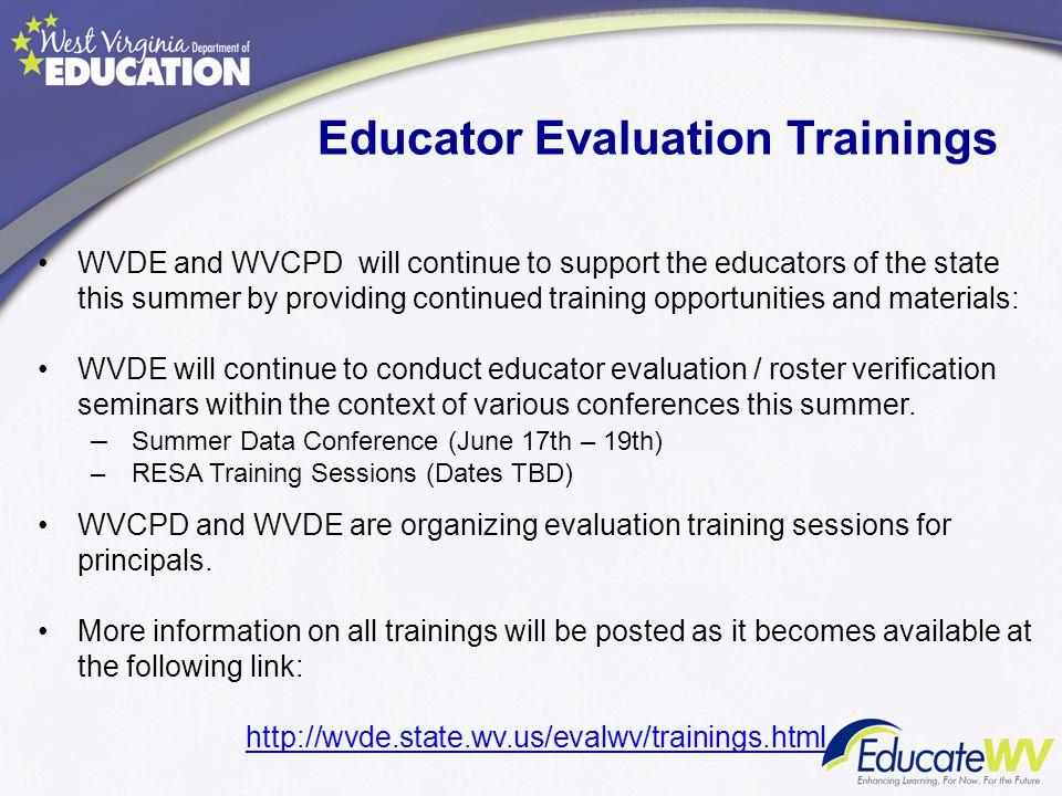 Educator Evaluation Trainings