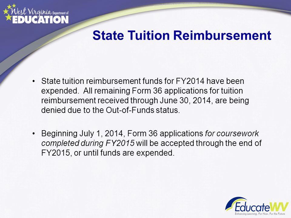 State Tuition Reimbursement