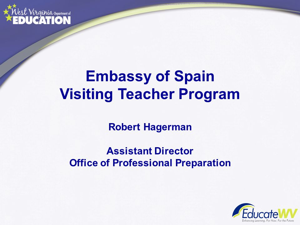 Visiting Teacher Program Office of Professional Preparation