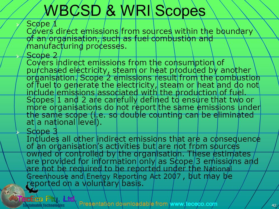 WBCSD & WRI Scopes