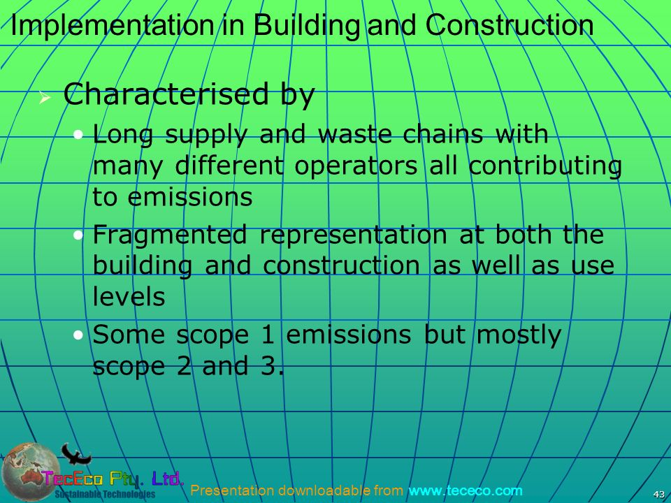 Implementation in Building and Construction