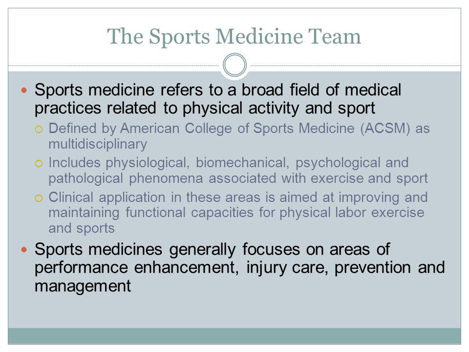 The Sports Medicine Team