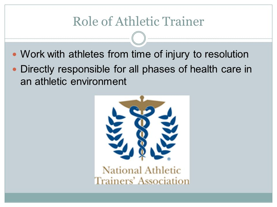 Role of Athletic Trainer