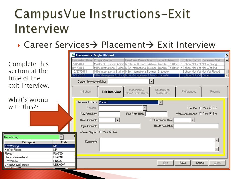 CampusVue Instructions-Exit Interview