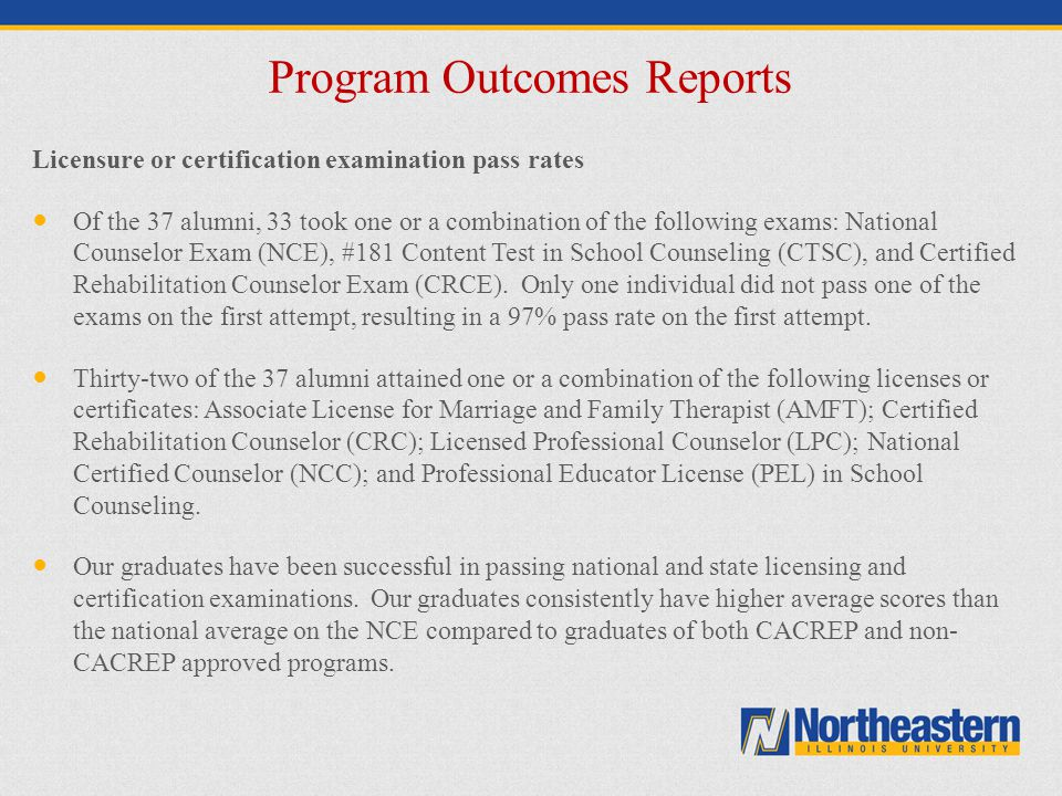 Program Outcomes Reports