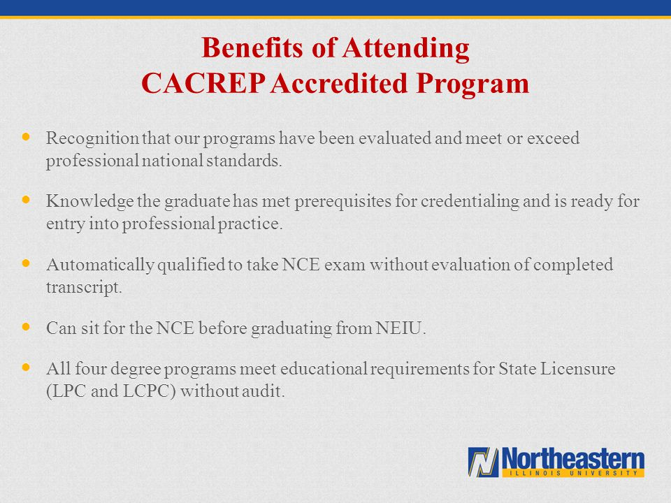 Benefits of Attending CACREP Accredited Program