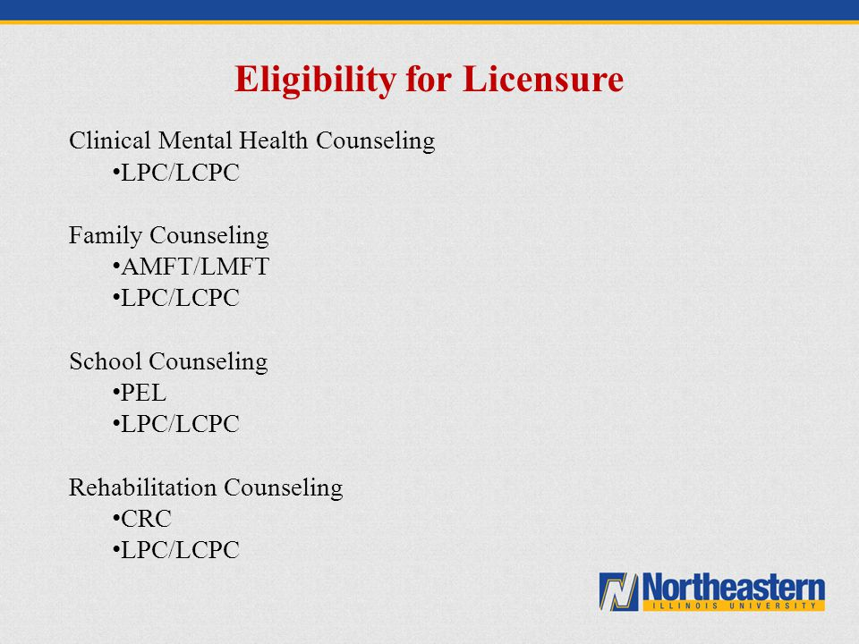 Eligibility for Licensure