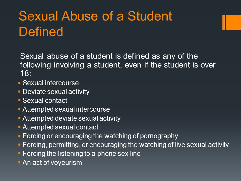 Sexual Abuse of a Student Defined