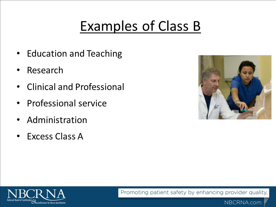 Examples of Class B Education and Teaching Research