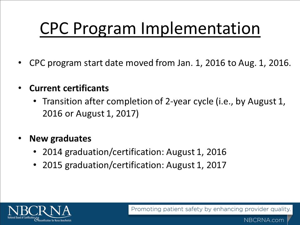CPC Program Implementation