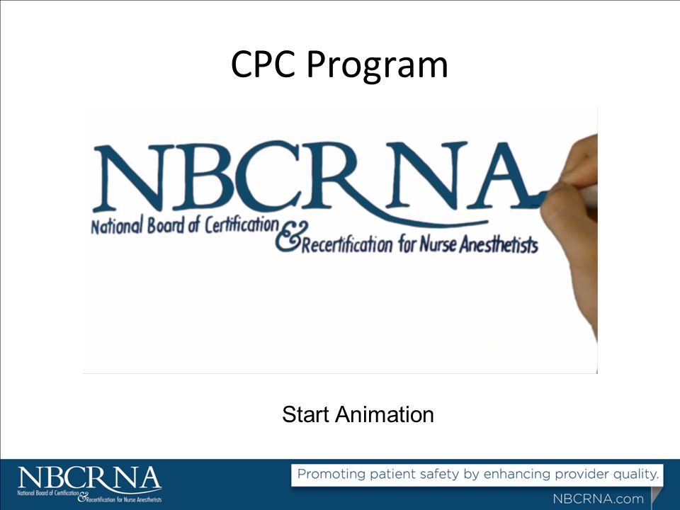 CPC Program Start Animation