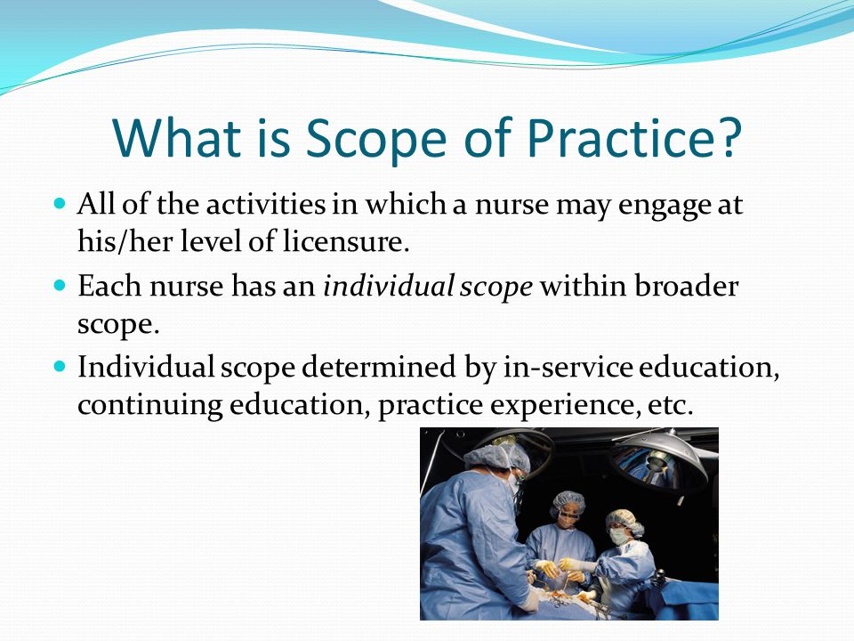 What is Scope of Practice