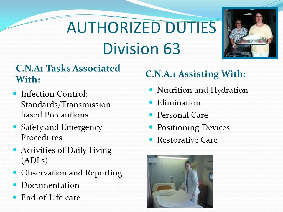 AUTHORIZED DUTIES Division 63
