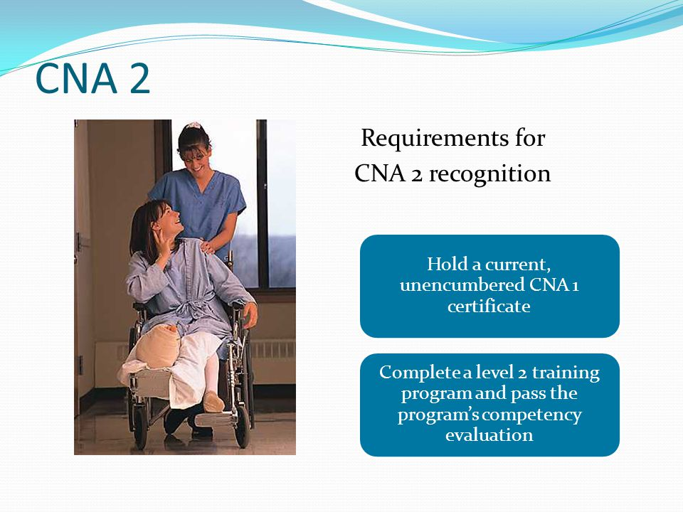 Hold a current, unencumbered CNA 1 certificate