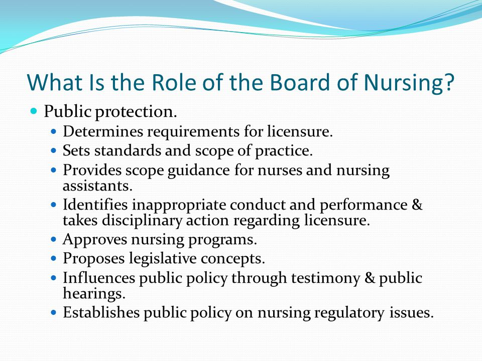 What Is the Role of the Board of Nursing
