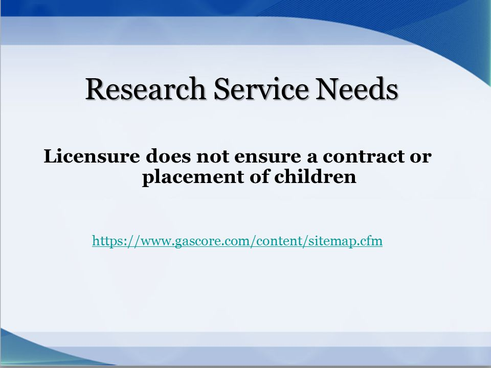 Research Service Needs
