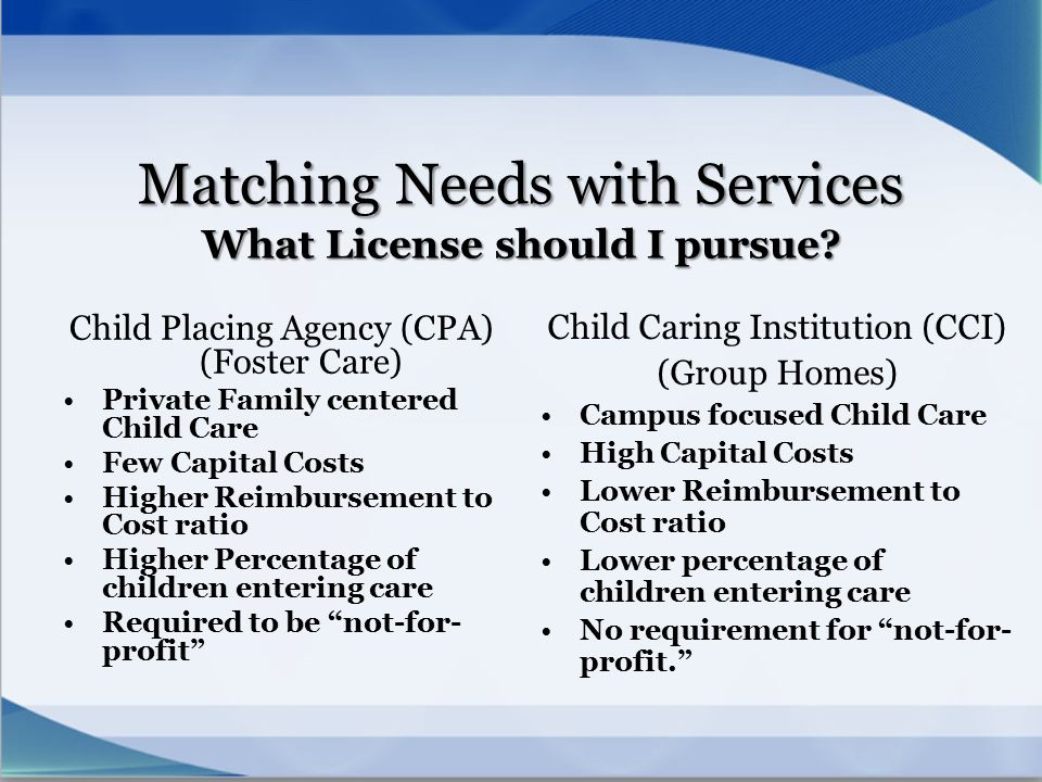 Matching Needs with Services What License should I pursue