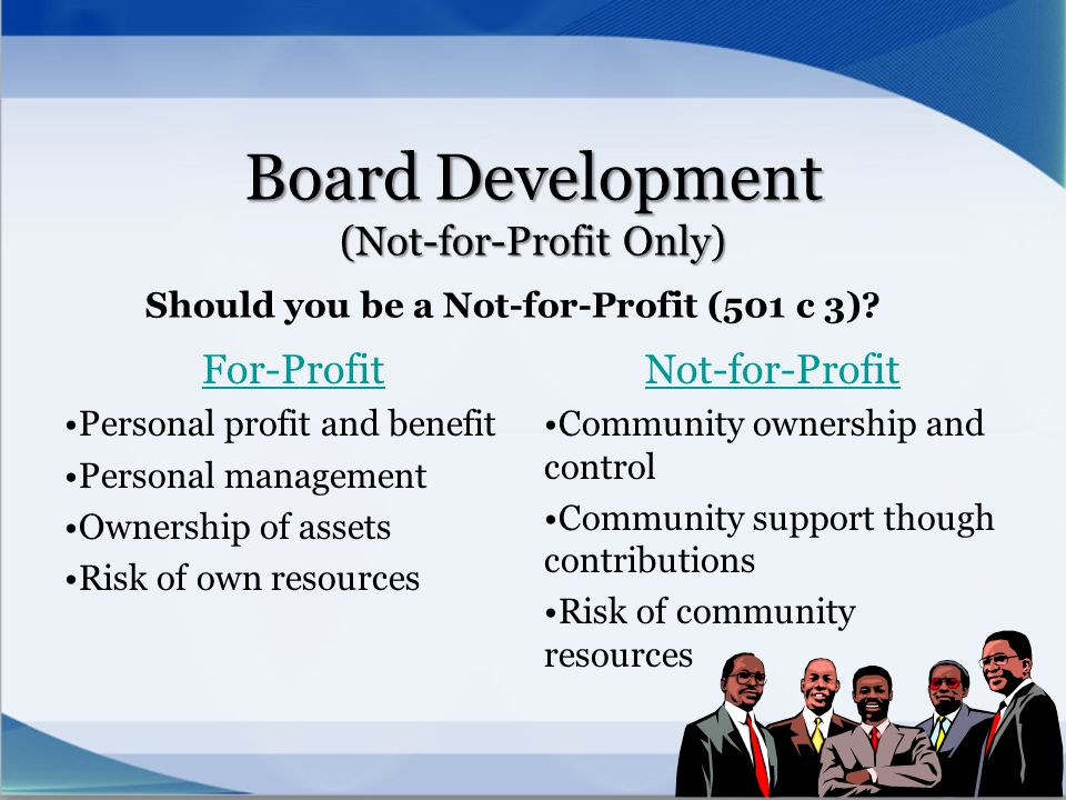 Board Development (Not-for-Profit Only)