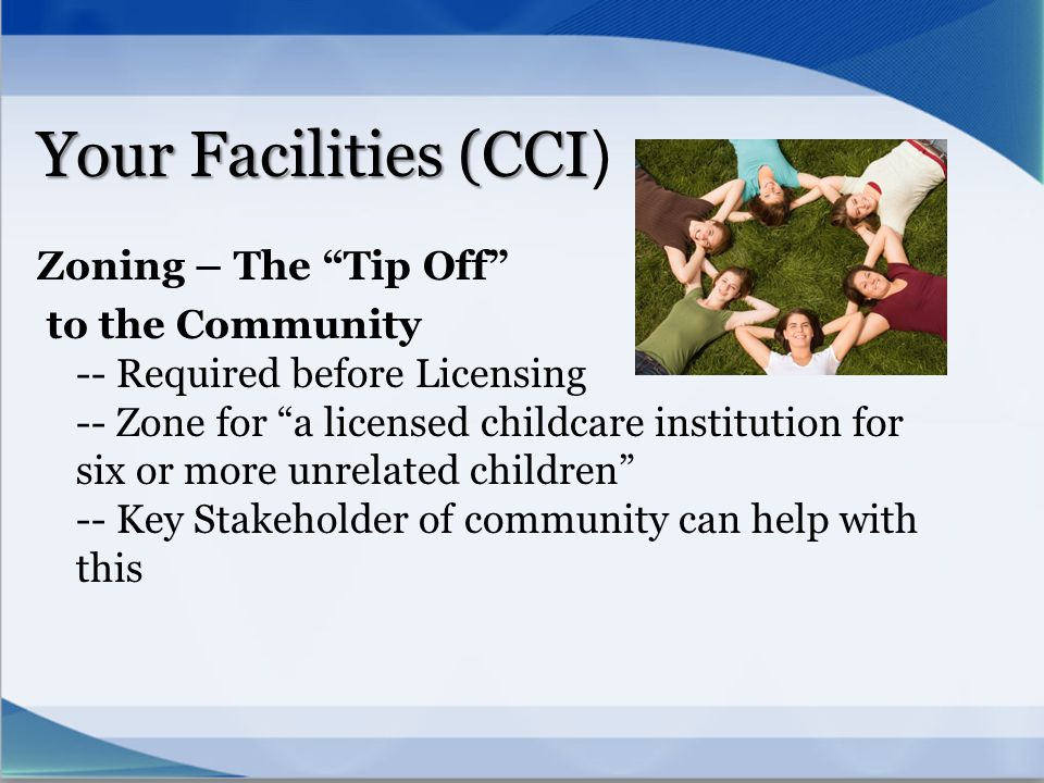 Your Facilities (CCI) Zoning – The Tip Off