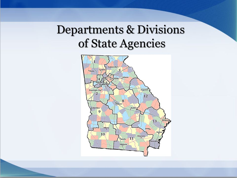 Departments & Divisions of State Agencies
