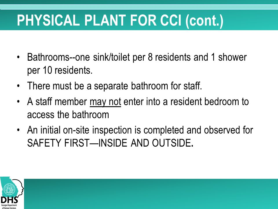 PHYSICAL PLANT FOR CCI (cont.)